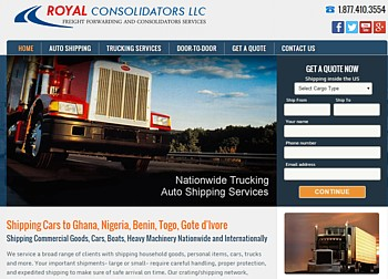 Container consolidators shipping services